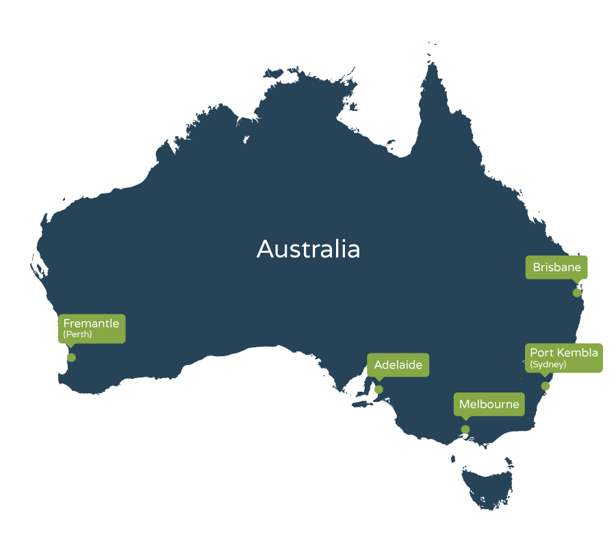 Locations we ship to in Australia